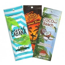 12 Coconut Tanning Lotion Packets