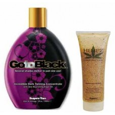 Supre Tan Go To Black Incredible Dark Tanning Concentrate with Free Hempz Sandalwood Apple Scrub