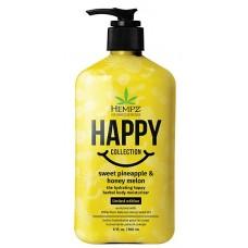 Hempz Limited Edition Happy Sweet Pineapple & Honey Melon Moisturizer 17 oz