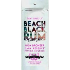 Tan Asz U BEACH BLACK RUM Double Shot 400X  Bronzer Packet
