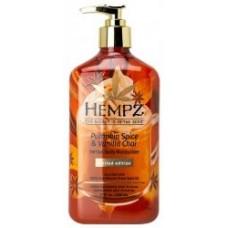 Hempz Pumpkin Spice and Vanilla Chai Moisturizer 17 oz