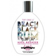 Tan Asz U BEACH BLACK RUM Double Shot 400X  Bronzer 13.5 oz